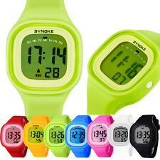 1PC Silicone LED Light Digital Sport Wrist Watch Kid Women Girl Men Boy Perfect