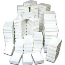 Cotton Filled Jewelry Gift Boxes White 3 1/4""