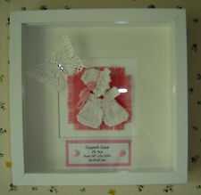 Personalised Birth or Christening 3D Frame Gift: Grand / God Daughter, Niece etc