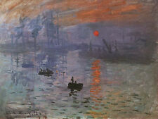 Impression Sunrise by Claude Monet Canvas Giclee Art Print Painting Reproduction