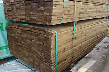 """Tanalised Garden Decking Boards - 5""""inch   -Seconds Quality- 2.4meter lengths"""