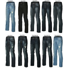 RNZ Premium LA Boutique Designer Mens Fashion Denim Jeans - Multiple Styles