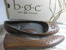 NEW  BORN b.o.c CONCEPT COSIMA LADIES  LEATHER SLIP ON FLATS SHOES CUT OUTS