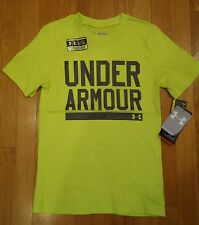 NWT UNDER ARMOUR SHIRT BOYS SMALL CHARGED COTTON LOOSE FIT