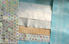 Silver Holo Paper/ Embossed Snakskin Paper and Mixed Pack of Amazing Papers NEW