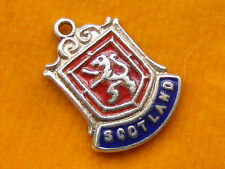 VINTAGE STERLING SILVER CHARMS TRAVEL SHIELD FOR SCOTTISH LOCATIONS