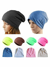 Unisex Women Ladies Men Winter Slouchy Solid Beanie Hip Hop Hat Ski Baggy Cap