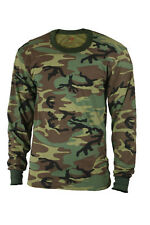 Kids Woodland Forest Camo Airsoft Paintball Military Style Long Sleeve T-Shirt