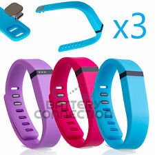3 L Large S Small Replacement Wrist Band w Clasp Fitbit Flex Bracelet No Tracker