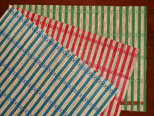 Set of 2 BAMBOO PLACEMATS Wicker Rattan Table Cloth Protector Tan Green Red Blue