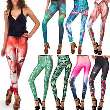 Women Galaxy Variety Colorful Printed Stretchy Tights Leggings Pants 60 Styles