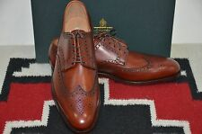Crockett & Jones Made in England Trafford Chestnut Burnished Wingtip Dress Shoes