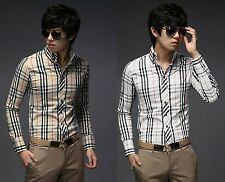 Mens Fashion Designer Stylish Luxury Slim Fit Casual Dress Shirts C5023