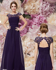BNWT KATIE PURPLE LACE BEADED VINTAGE INSPIRED MAXI EVENING PROM DRESS 6-18