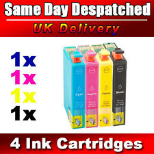 4 Compatible 18XL Ink Cartridges Replace for EPSON Printer