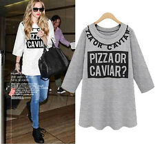NEW Fashion Women's Long Sleeve Loose Casual Tops T-shirt Blouse