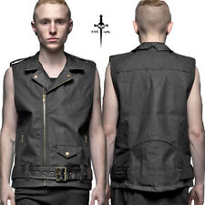 LIP SERVICE KILL CITY STEAMPUNK VEGI LEATHER BIKER VEST JACKET GOTHIC PUNK MOTO