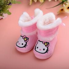 TH New Baby Toddler pink bowknot kitty Girls Winter Boots Shoes Winter Warm