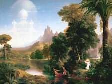 Religious Art Print Voyage of Life Youth by Thomas Cole Christian Painting Repro