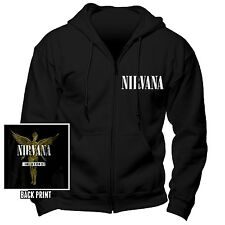 NIRVANA Official Uni-Sex Zipped Hooded Top Various Sizes IN UTERO
