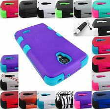 FOR LG VOLT LS740/F90 SHOCK PROOF RUGGED TUFF ARMOR HYBRID CASE COVER+STYLUS