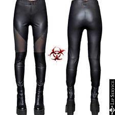 LIP SERVICE MOTO VINYL PVC LEGGINGS JEANS GOTH GOTHIC PANTS PUNK ROCKABILLY