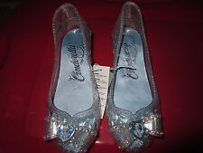 Disney Store Cinderella Glass Slippers Costume Shoes Light up 7 8 9 10 11 12 2 3