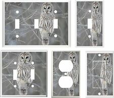 IMAGE OF BARN OWL  #5 LIGHT SWITCH COVER PLATE OR OUTLETS U PICK PLATE