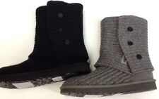 UGG CARDY WOMENS BOOTS NEW AUTHENTIC  BLK /  GREY