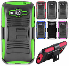 T-Mobile Samsung Galaxy Avant Hybrid Combo Holster KICKSTAND Rubber Case Cover