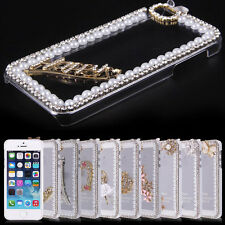 """3D Bling Crystal Diamond Clear Transparent Hard PC Case For iphone 5 6 4.7"""" 5.5"""""""