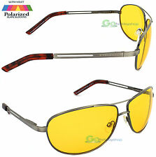 Night Driver Glasses Yellow Lens Nightime Driving Sunglasses Polarized Aviator