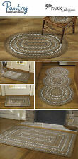 Pantry Braided Rugs by Park Designs, Tan, Gold, Gray Blue, Cream, Pick of 5 Szs.