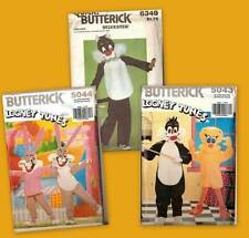 Looney Tunes Cartoon Characters Costumes OOP Butterick Sewing Pattern You Pick
