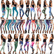 Stylish Womens Cosmic Galaxy Printing Skinny Leggings Tights Pants Jean S-M L-Xl