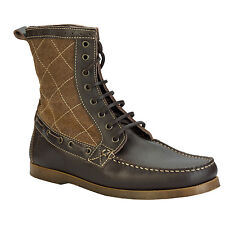 Henleys Sandbar Mens High Ankle Boots In Dark Brown From Get The Label HNY2