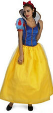 Snow White Halloween Adult XMAS Costume Fairytale Long Dress Princess M-2XL