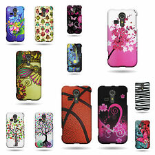 For Kyocera Hydro Vibe Case - Thin Durable Multicolor Design Hard Rubber Cover