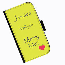 Ideas WILL YOU MARRY ME Leather wallet personalised proposal phone case iPhone