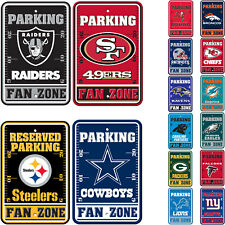 "Brand New All NFL Teams Reserved Parking Fans Only Sign 12"" x 18"" Made in USA"