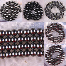 4MM 6MM 8MM 10MM 12MM Black Magnetic Hematite Healing Loose Beads Strand 16""