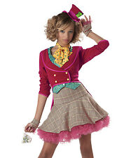 The Mad Hatter Girls Teen Tailcoat Jacket and Skirt Outfit Costume