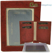 Leather ID Card Holder Wallet Oyster Cash Money Credit Age Travel Bus Train Pass