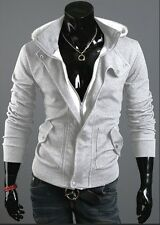 Cosplay Assassin's Creed Mens Slim Fit Zip Up Hoodies Jackets Coats 3 Colors