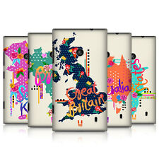 HEAD CASE TRENDY MAPS PROTECTIVE COVER FOR NOKIA LUMIA 525