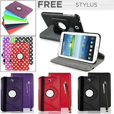 360°Rotating Leather Stand Case For Samsung Galaxy TAB 3 & 4 Swivel Tablet Cover