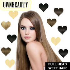 DIY Weft Full Head 100% Remy Human Hair Extensions