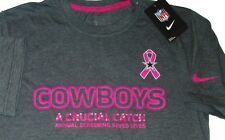 MENS NIKE TEE DALLAS COWBOYS A CRUCIAL CATCH NFL FOOTBALL BREAST CANCER T-SHIRT