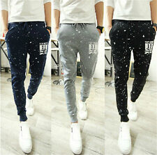 Fashion Printed Mens Jogger Dance Sportwear Skinny Harem Pants Slacks Trousers