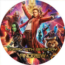 "Guardians of the Galaxy v2 7.5"" ROUND Cake Topper Rice Paper/Icing FREE POST!"